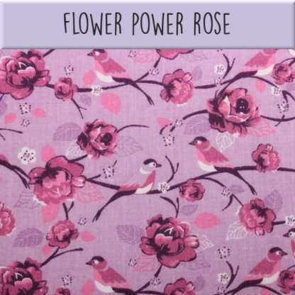Coton Flower power rose