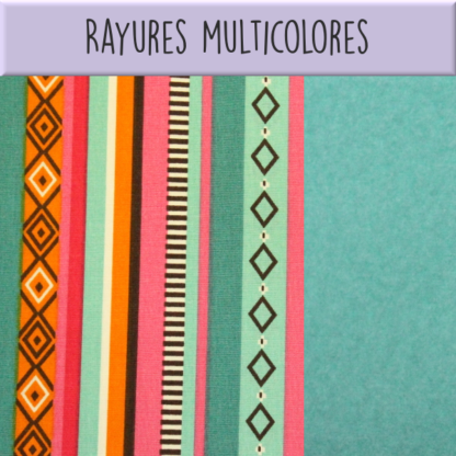 Rayures multicolores