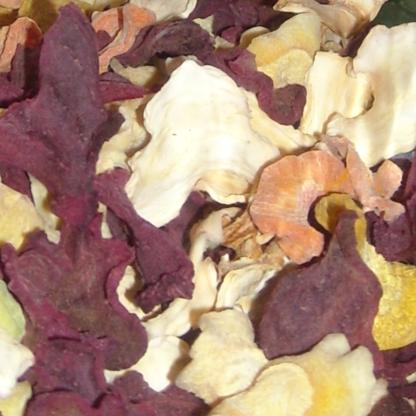 Mélange de fruits et légumes séchés de saison
