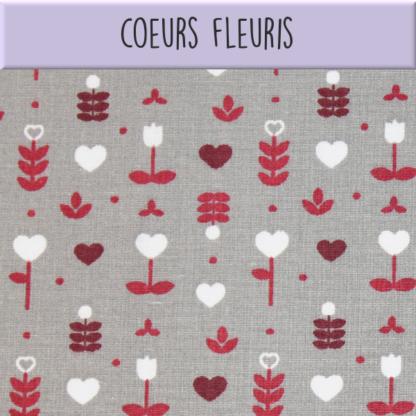 Coton Coeurs fleuris