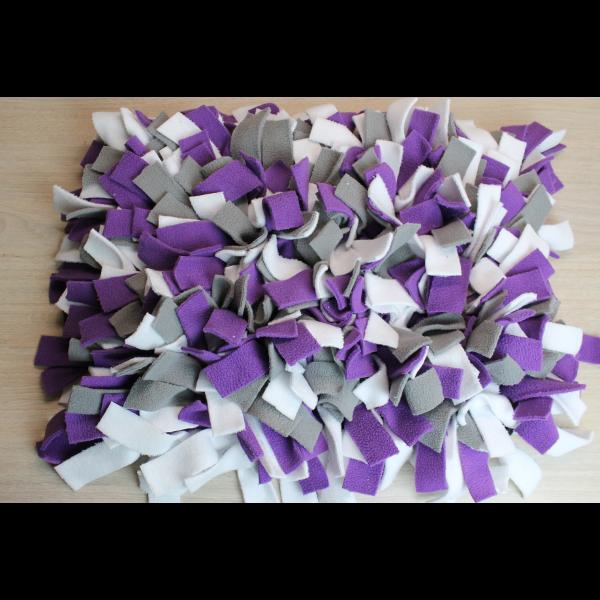 Tapis de fouille (gris, blanc, violet) - 40cm x 30cm