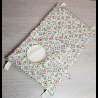 Hamac cache-cache rectangulaire - Mosaïque pastel