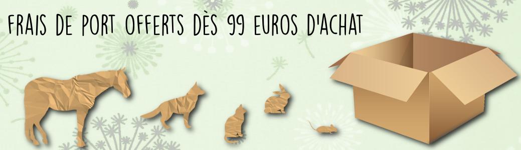 Frais de port offert dès 99 euros d'achat