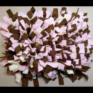 Tapis de fouille (rose, écru, marron) - 40cm x 30cm