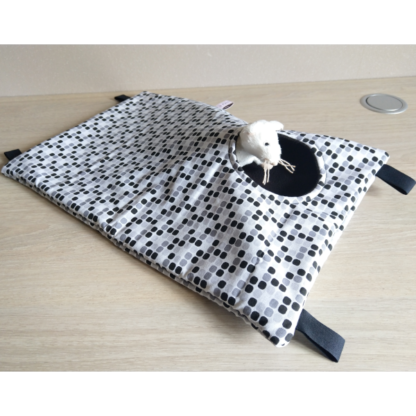 Hamac cache-cache rectangulaire - Taille M - Black N White
