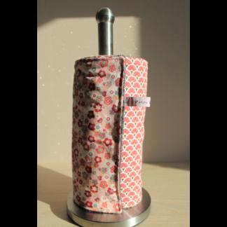 Rouleau d'essuie-tout lavable - Fleurs de cerisier/Éventails