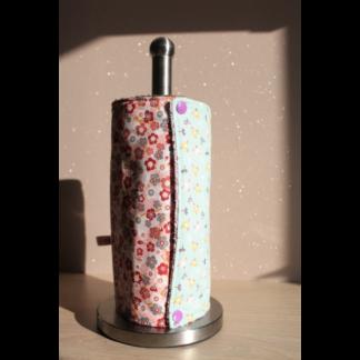 Rouleau d'essuie-tout lavable – oiseaux/fleurs de cerisier