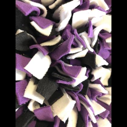 Tapis de fouille Noir Mauve Blanc2