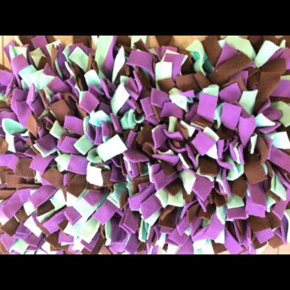 Tapis de fouille Violet, vert menthe, marron1