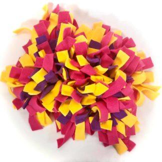 Tapis de fouille (Violet, fuchsia, jaune) - 30cm x 20cm
