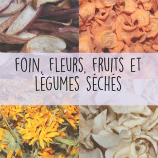 Fleurs, fruits et légumes séchés